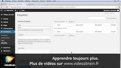 Tutoriel WordPress 4.0 : Utiliser la taxinomie personnalisée | video2brain.com