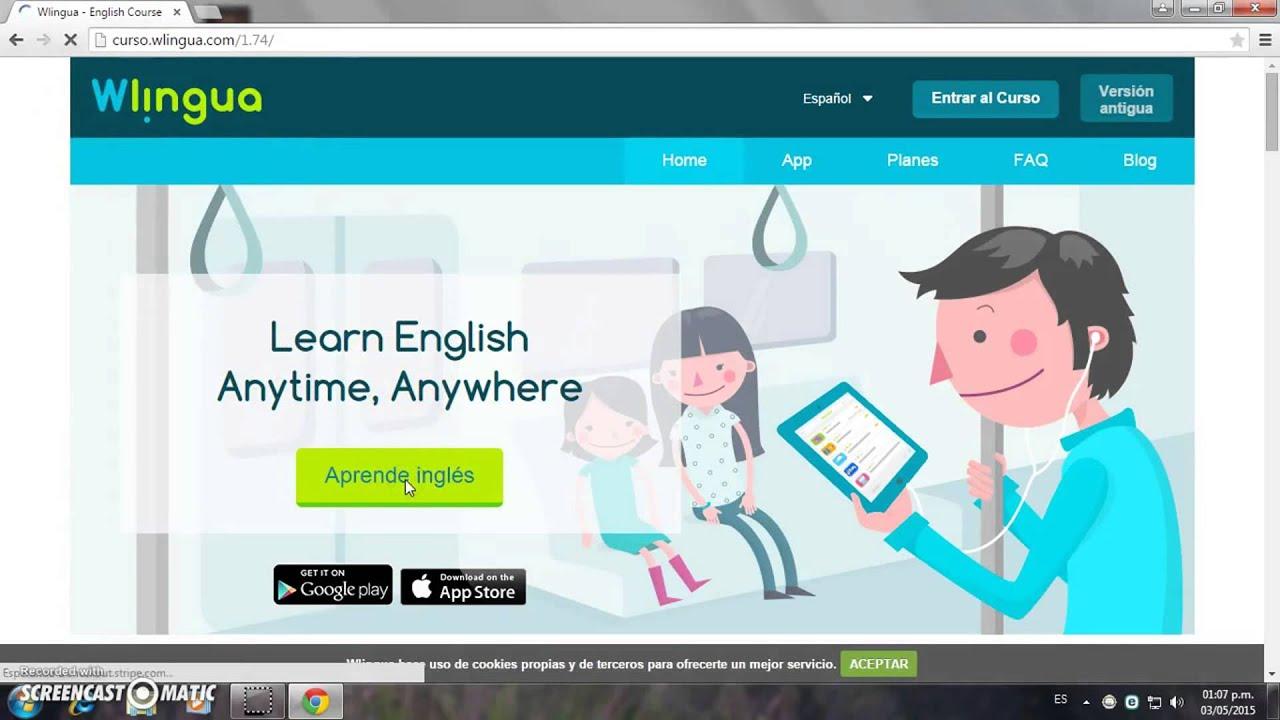 página web Inglés orgía