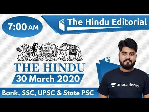 7:00 AM - The Hindu Editorial Analysis By Vishal Sir | 30 March 2020 | The Hindu Analysis