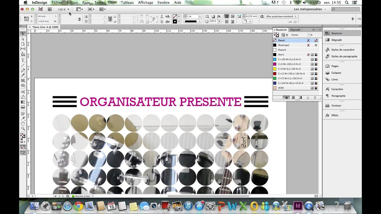 Populaire INDESIGN - Créer une affiche - YouTube ND18