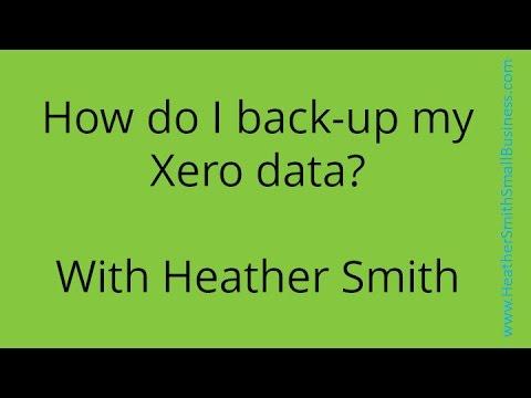 How do I backup my Xero data