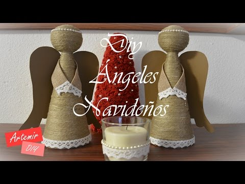 Ngeles navide os diy manualidades navidad con artemir - Angeles de navidad manualidades ...