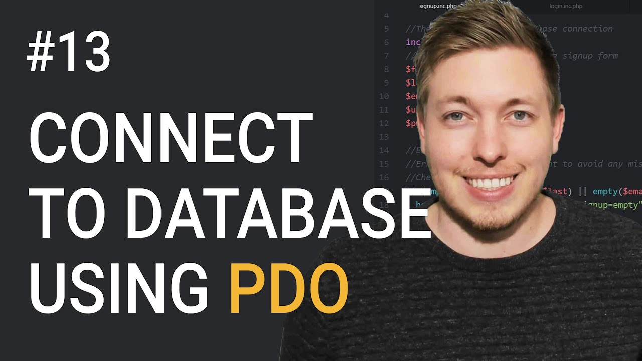 Connect To Database Using PDO In OOP PHP | Object Oriented PHP Tutorial | PHP Tutorial | mmtuts