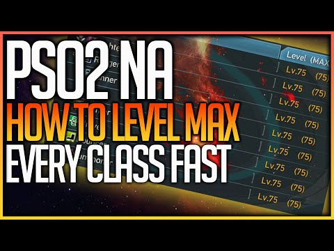 HOW TO LEVEL UP FAST (LEVEL MAX ALL CLASSES) – Phantasy Star Online 2