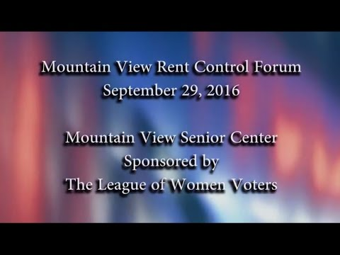 Mountain View Rent Control Forum