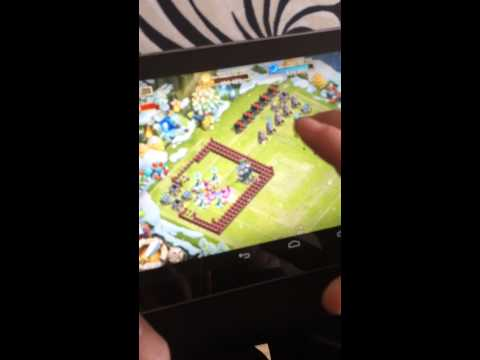 Castle clash base show on tablet - EEF