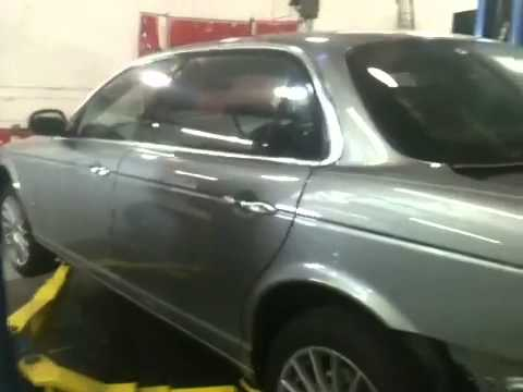 2007 jaguar xjl aluminum structural body repair @ Richards