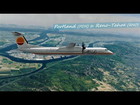 Majestic Q400  |  Horizon Air Stunning Retro Livery  |  Portland ✈ Reno-Tahoe  |  P3D V4