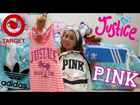 HUGE BACK TO SCHOOL SHOPPiNG SPREE HAUL FOR 3RD GRADE! JUSTiCE, TARGET, PiNK + MORE!