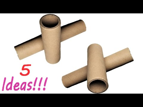 5 Awesome Ideas To Reuse Cardboard Rolls | DIY Home Decors
