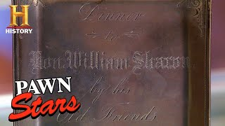 Pawn Stars: CRAZY HIGH ASKING PRICE for Antique Silver Menu (Season 13) | History