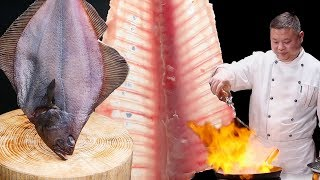 How to fillet a fish by Masterchef l Amazing Knife Skills l Chinese Cooking