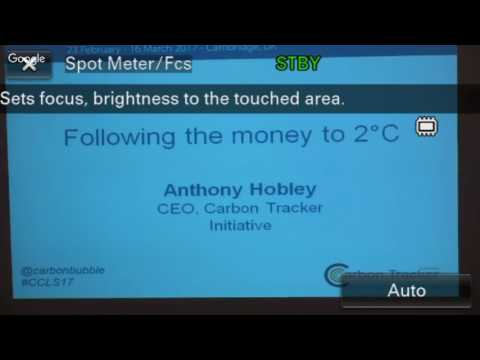 2nd Lecture - Anthony Hobley:  2°C Roadmap based on Financial Analysis