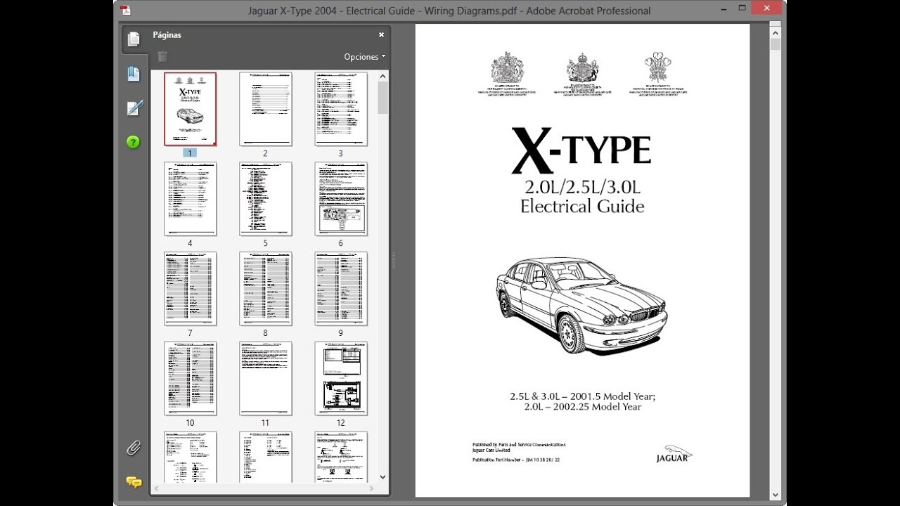 jaguar x-type 2004 - electrical guide - wiring diagrams - youtube  youtube