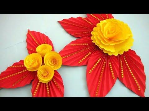 DIY. Simple Home Decor. Wall Decoration Door. Hanging Flower. Paper Craft Ideas.xs3