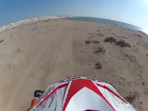 Riding the coast in Zekreet Qatar