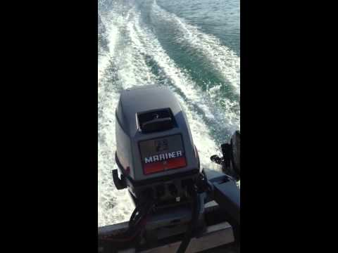 Mariner 15hp 2 stroke electric start outboard boat engine on a sea nymph 12R aluminium boat