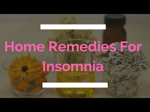 25 Natural Home Remedies For Insomnia Treatment In Adults