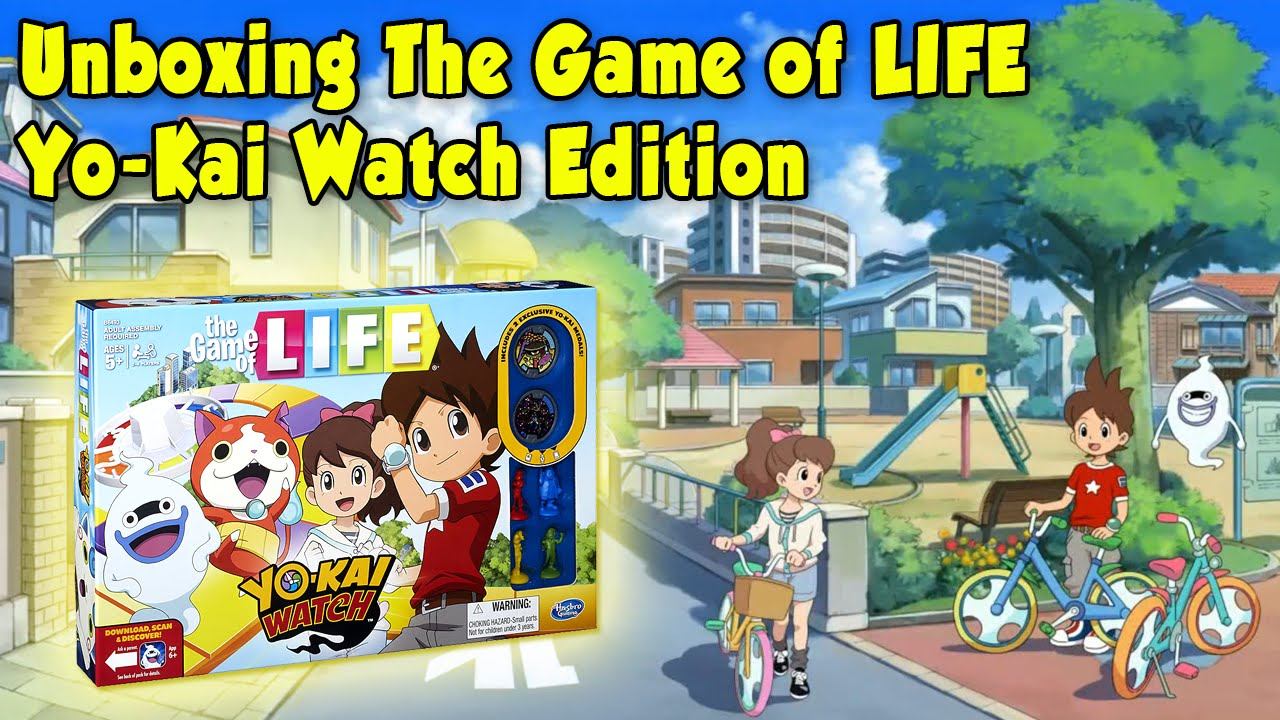 Unboxing Yo Kai Watch Game Of Life Edition Youtube