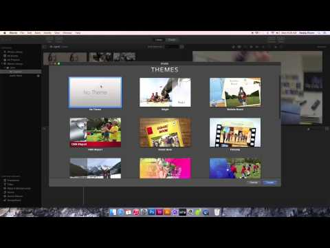 iMovie - Create a New Event & Project