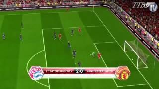 PES 2014 - Bayern Munich Vs Manchester United - Gameplay [HD]