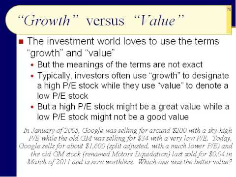 BUS123 Chapter 05 - Types of Stocks, Market Capitalization, and Stock Strategies - Slides 76 to 93