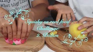 Squishy Yiyecek vs Gerçek Yiyecek Challenge!! SQUISHY FOOD vs REAL FOOD CHALLENGE! Bidünya Oyuncak