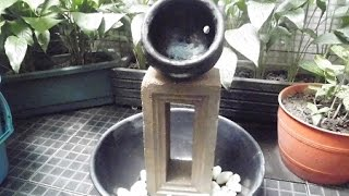 Membuat air terjun mini step 1
