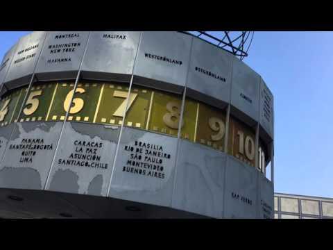 Berlin World Clock. A must see on a school tour