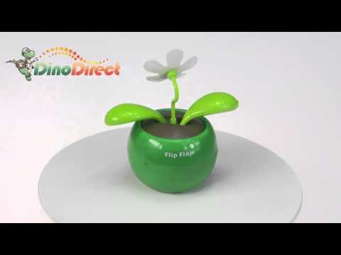 Magic Cute Flip Flap Swing Solar Flower Funny Toy Gift Green  from Dinodirect.com