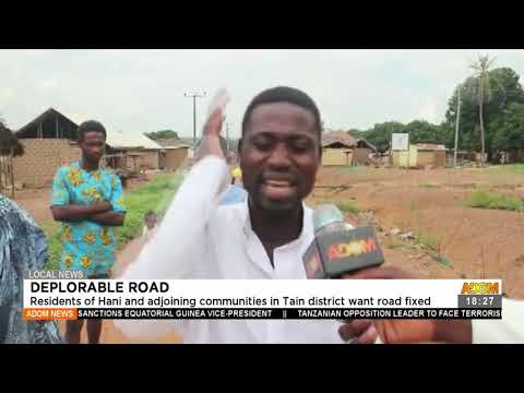 Residents of Hani and adjoining communities in Tani district want road fixed - Adom TV News(22-7-21)