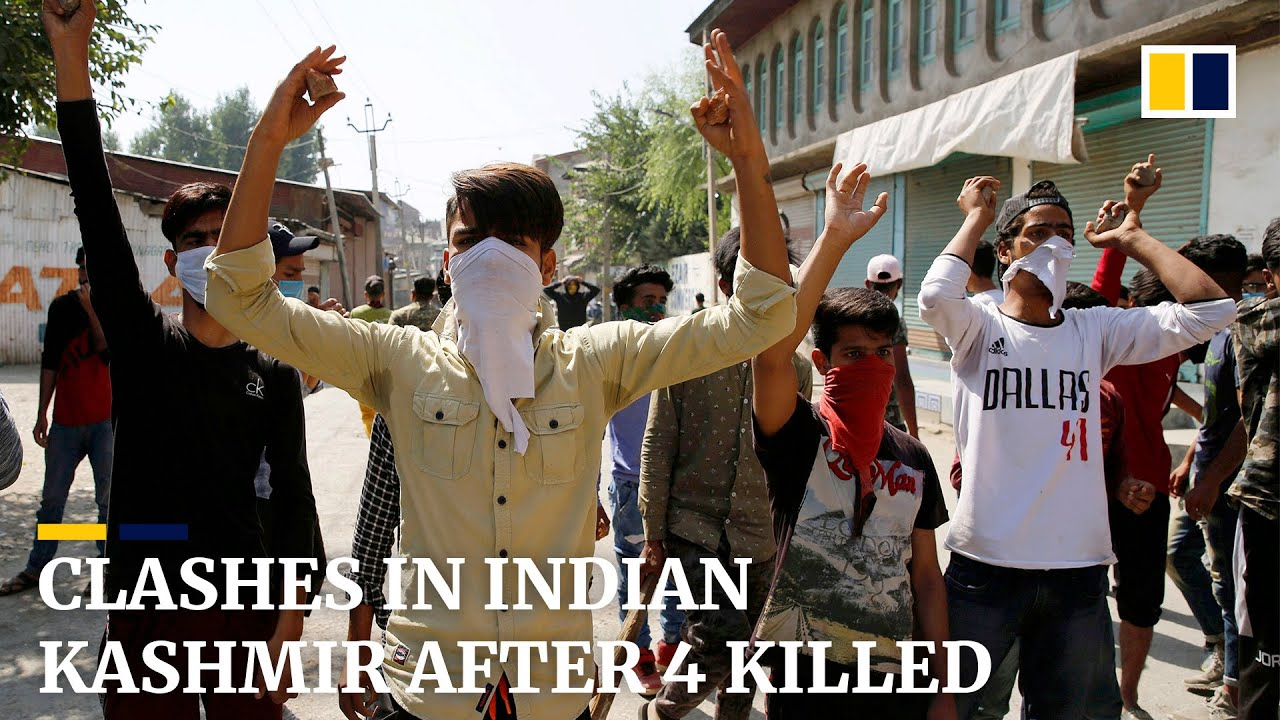 Civilians clash with government forces in Indian Kashmir after four killed in armed encounter