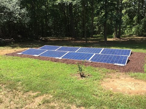 3.2KW Off grid solar ground mount install with dual fuel generator back up by Off Grid Contracting