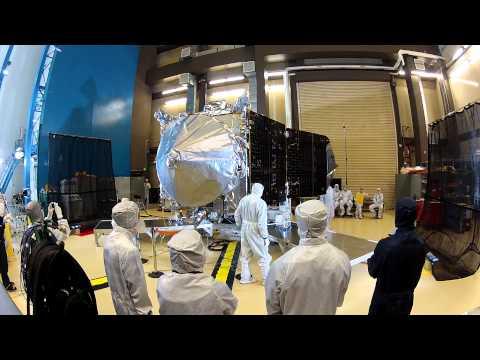 MAVEN Spacecraft Solar Array Deployment Test