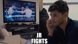 Ryan Garcia watching Luke Campbell vs Linares