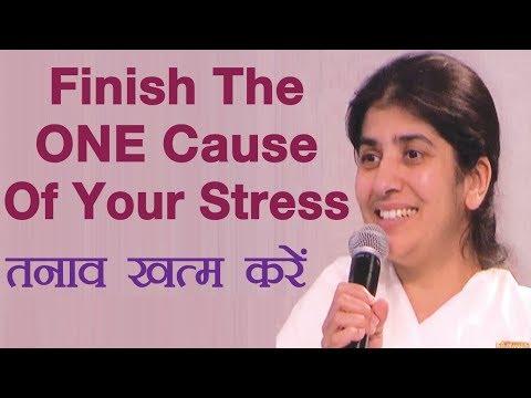 Finish The ONE Cause Of Your Stress: BK Shivani: (English Subtitles)