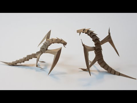 [RPG종이접기]LV.20 사막의 와이번(Desert Wyvern Origami)made By Just A4