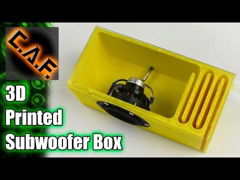 3D Printed Subwoofer Box - CarAudioFabrication