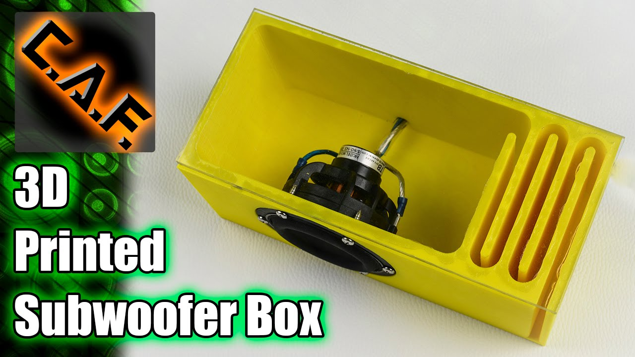 3d Printed Subwoofer Box Caraudiofabrication Youtube