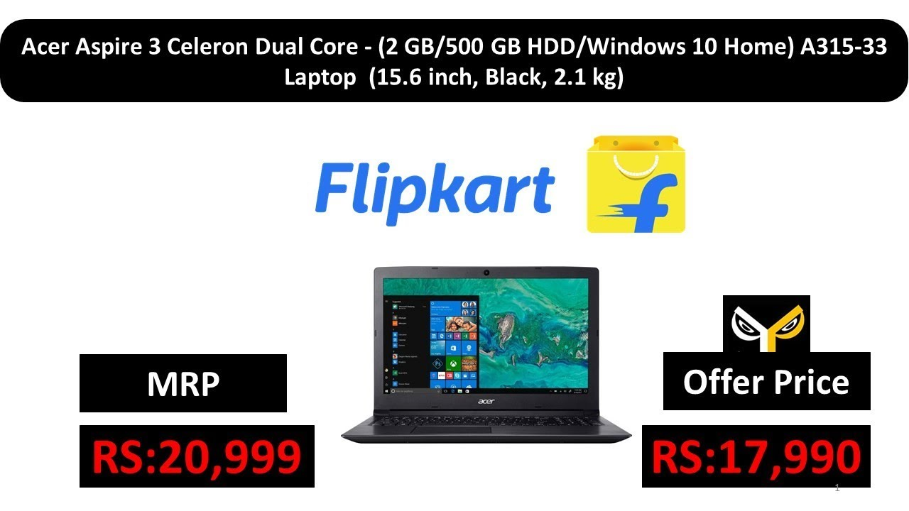 Acer Aspire 3 Celeron Dual Core - (2 GB 500 GB HDD Windows 10 Home) A315-33  Laptop 710bba408d