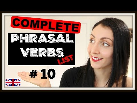 ENGLISH Phrasal Verbs In Use: The Complete List - #10 | LIVE English Lesson