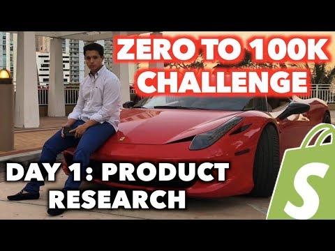 Zero To $100k Shopify Challenge