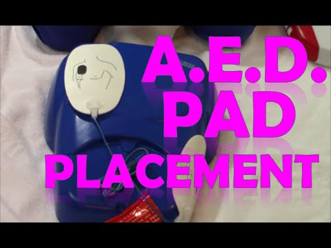 AED Pad Placement | How to Use Defibrillator Pads - YouTube
