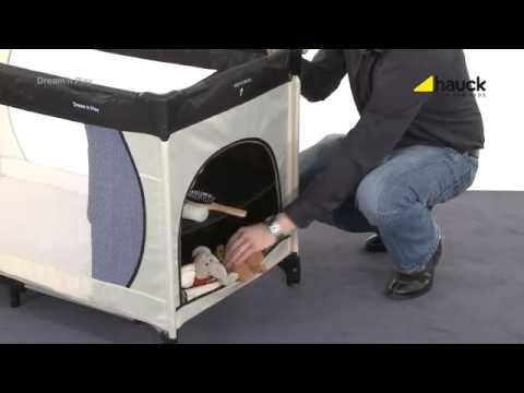 hauck reisebett dream 39 n play plus youtube. Black Bedroom Furniture Sets. Home Design Ideas