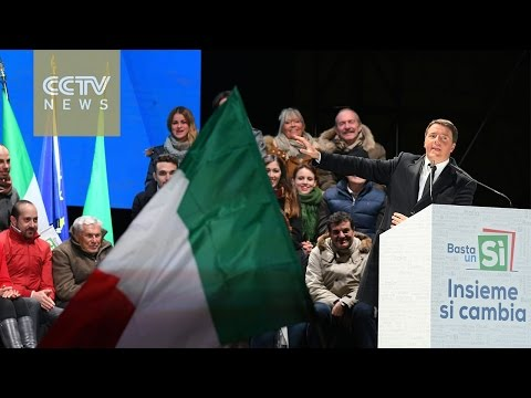 Italian PM makes final push ahead of Sunday's referendum