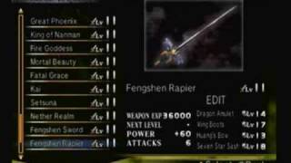 Dynasty Warriors 4 Xtreme Legends:  Weapon and Item Gallery