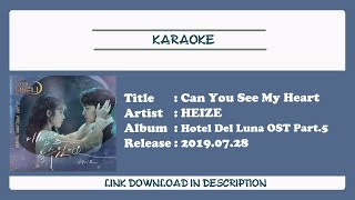 [KARAOKE] HEIZE (헤이즈) - Can You See My Heart (내 맘을 볼수 있나요)