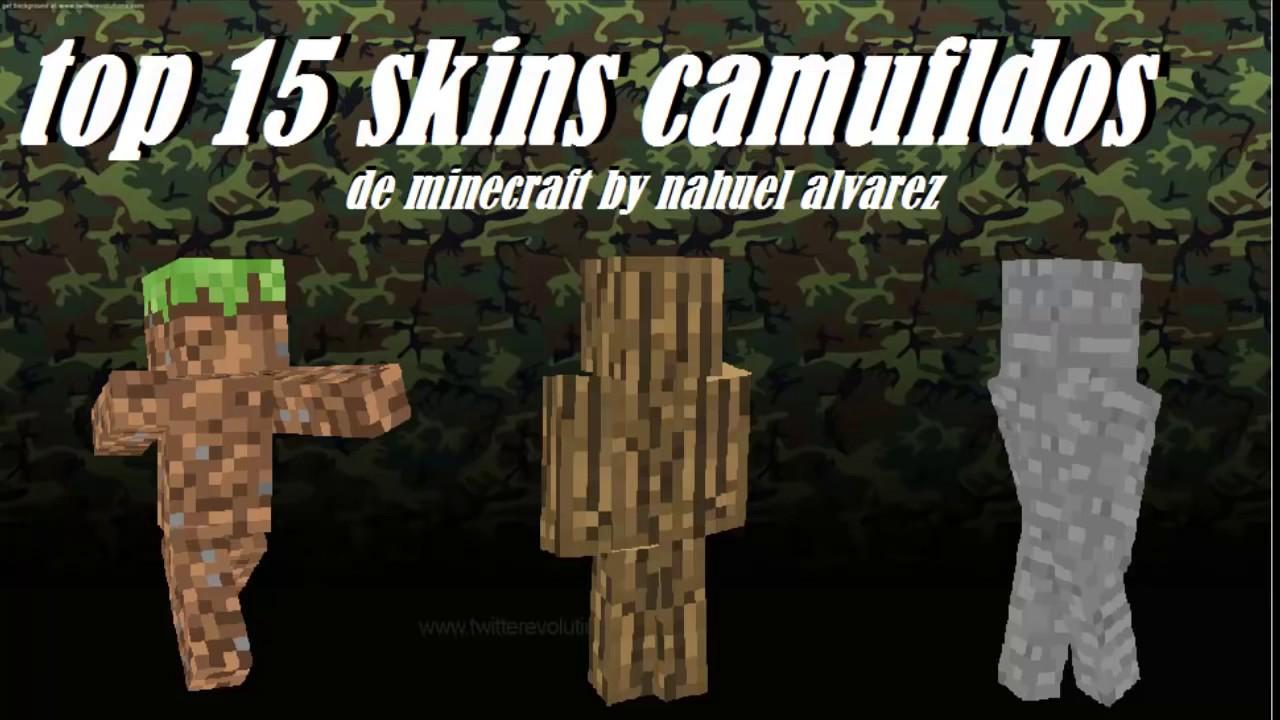Top Skins Camuflados De Minecraft Con Nombres YouTube - Skin para minecraft pe de madera