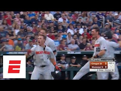 Oregon State defeats Mississippi State to go to the College World Series finals | ESPN