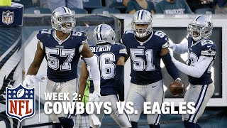 Cowboys Block the Eagles Punt, Return it for a TD! | Cowboys vs. Eagles | NFL